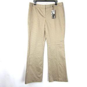 Express Editor Khaki Striped Flare Pants 10 NEW